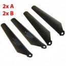 MJX F29 Main blades Rotorblad set 4 stuks